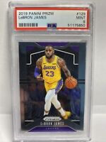 2019-2020 Panini Prizm LEBRON JAMES LAKERS #129 PSA 9 MINT HOF