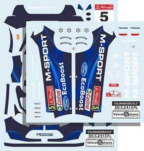 DECALS 1/24 FORD FIESTA RS WRC - #5 - HIRVONEN  PORTUGAL 2014  - COLORADO  24153