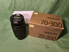 Nikon AF Zoom-Nikkor 70-300mm F/4-5.6G Lens in original Box