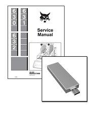 Bobcat 630 631 632 Skid Steer Workshop Repair Service Manual 6556454 USB + DL