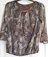 Dorothy Perkins Billie And Blossom Top Size 12 Grey Sparkly Snakeskin. A13
