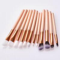 12pezzi Pennelli per Trucco Cosmetica Make Up Professionale Ombretto Fard Powder