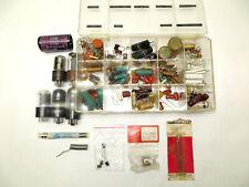 Lot Vintage Electronic Components Resistors Vacuum Tubes Lead Solder Repair