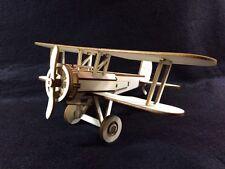 Laser Cut Wooden Bristol Bulldog Biplane 3D Model/Puzzle Kit