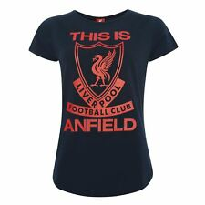 Liverpool FC Womens Navy TIA T-Shirt LFC Official
