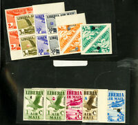 Liberia # C4P-13P Proof Stamp Pairs NH Extremely Rare