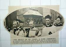 1920 Exposition Of The Relics Of St Chad Birmingham Taken In Solemn Procession