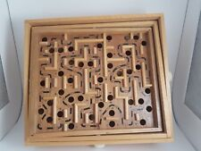 Labyrinth Tilting Wooden Vintage Board Game - a Challenging Game/Puzzle of Skill