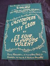 Partition L'accordéon du petit Léon Ce soir les Jupons volent de Louis Rey 1956