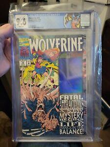Wolverine #75 CGC 9.6 NM+ 🔥 Distorted Hologram Error Variant 🔥 Marvel 1993