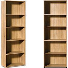 Etagère Bibliothèque Effet Bois 5 Étages Meuble Rangement Chambre Bureau 192Cm