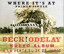 BECKWhere It's At Spain Promo 1-track Jewel caseCD SINGLEGED760171996Spain