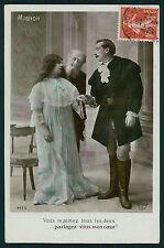 Theater Edwardian Lady MIGNON Opera original vintage old 1910s photo postcard
