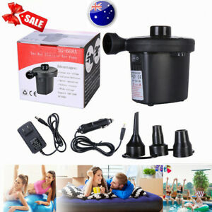 AC/DC Electric Air Pump For Inflatables Air Mattress Raft Bed Boat Pool Float AU