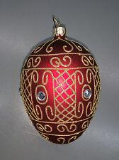 Vetro Uovo - Decorazione pasquale / Decorazione natalizia - 12,5 cm