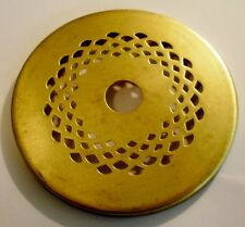 "3"" Vented Brass Heat Vase Cap for Stained Glass Lamp Shades and Repair"