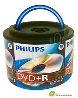 1,000 PHILIPS Blank 16X DVD+R Plus R Logo Branded 4.7GB Disc Spindle with Handle