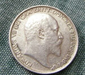 Edward  VII 1906 Sixpence Excellent Top Grade.