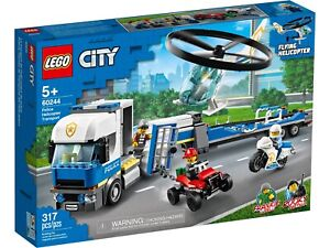 LEGO City 60244 NEW Police Helicopter Transport Brand New