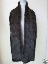 XL# Elegant  Men's  Real  Mink fur knitted scarf  (Brown)