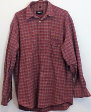 100% Cotton McNeal Men's Long Sleeves Red Shirt Size XL