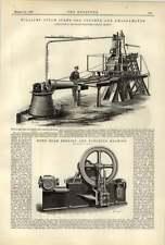 1887 Williams Steam Stamp Ore Crusher Amalgamator Beam Bending Machine