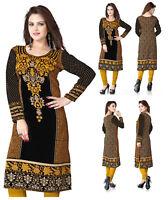 UK Unifiedclothes®️ New Printed Tunic Pakistani Long Kurti Kurta Top Dress 113D
