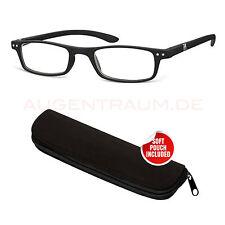 ligera Hombre Plástico Gafas de lectura + 1,5 en negro Unisex Ayuda Para Leer