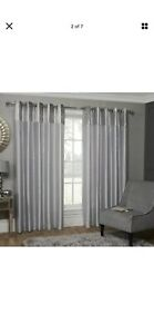 silver crushed velvet curtains 46x72