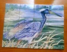 Ceramic Tile Mural Kitchen Backsplash Binks Bird Wildlife Art by P Brent
