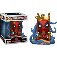 Deadpool - King Deadpool on Throne Metallic Deluxe #724 Pop! Vinyl