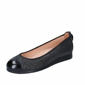 BM36 UNISA  Shoes Women Gray Synthetic leather Patent leather Ballet flats No Fl
