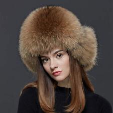 Lady Bomber Raccoon Real farm Fluffy Fur Hats Womens Cap Winter Beanie warm  ear 1cf80d08278