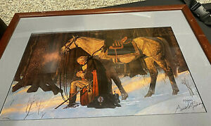 Arnold Friberg The Prayer At Valley Forge George Washington Framed Signed Litho.