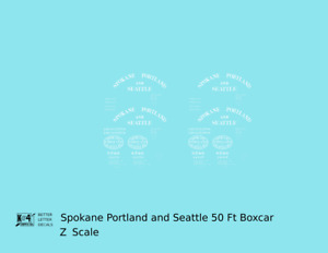 K4 Z Decals Spokane Portland and Seattle 50 Ft Boxcar White Arched Lettering