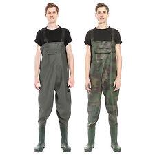 Conjunto Pesca Bota PVC + Pantalón Vadeador Impermeable Transpirable 42 43 44 45