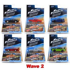 JADA 1:55 FAST FURIOUS WAVE 2 SET OF 6 CHARGER SKYLINE R35 BARRACUDA PAUL WALKER