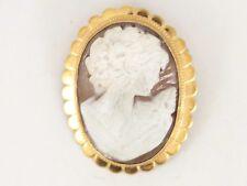 Cameo Brooch 9ct Gold Pendant Ladies Vintage 375 7.8g B65