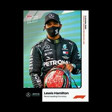 2020 Formula 1 F1 Topps Now card #6 Lewis Hamilton Record Equaling 91st Win