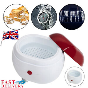 Mini Professional Ultrasonic Cleaner Jewellery Coins Cleaning Machine Basket New
