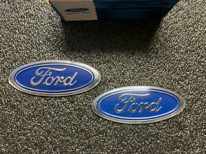NEW GENUINE FORD ESCORT FIESTA RS SIERRA COSWORTH LIGHT BLUE FORD BADGES NOS