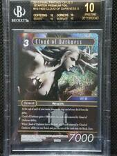 Final Fantasy TCG Opus X CLOUD OF DARKNESS Starter Foil #10-140S BGS 10 BLACK