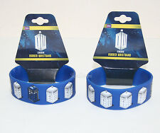 NEW BBC Dr Doctor Who Blue White Tardis Police Call Box Rubber Bracelet Jewelry