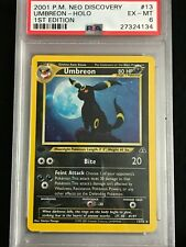 2001 1st Edition Neo Discovery Umbreon #13 Holo PSA 6 EX-MT