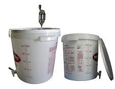 Gärbehälter mit Skala + Gärröhrchen + Hahn Gäreimer 30 L Gärbottich Gärfass