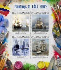 Maldives  2017   Paintings of  tall ships
