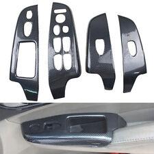 4x Carbon Fiber Color For Honda Civic 06-11 Door Window Lift Buttons Cover Trim
