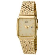 Citizen Men's AD2992-59P Quartz Gold Tone Champagne Dial Date Display Watch