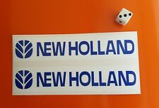 2 x NEW HOLLAND Adesivi Decalcomanie 150 mm x 30 mm Trattore