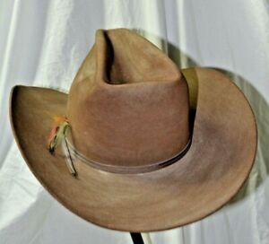 Vintage Resistol Self Conforming Brown Suede Western Hat